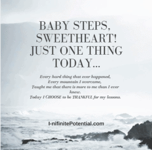 Baby steps to Better – Learn from my lessons.  Day 1